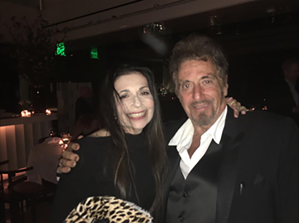 Susan Becker and Al Pacino, Photo courtesy of Susan Becker