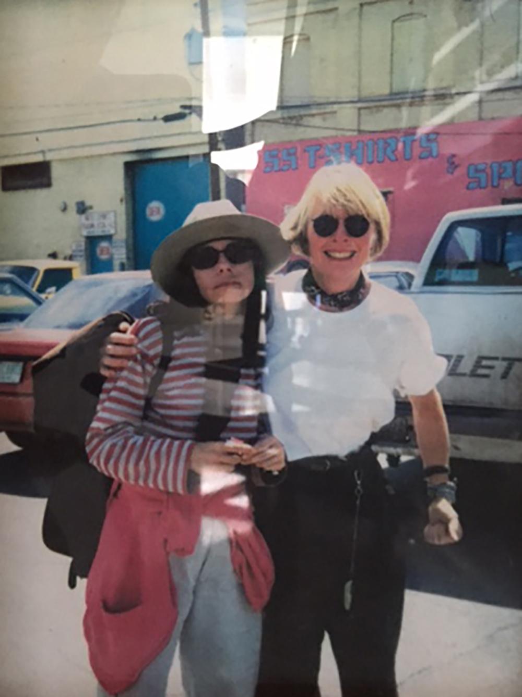 Diane Keaton and Susan Becker in Mexico, Photo courtesy of Susan Becker