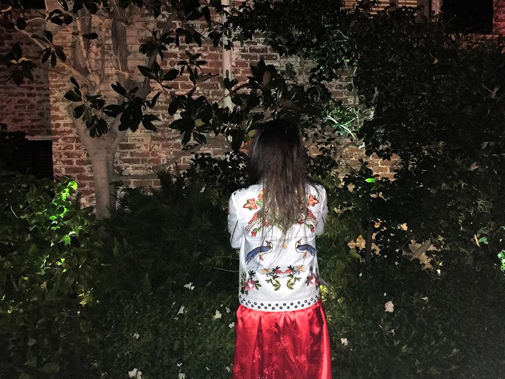 Susan Becker in Gucci Jacket & Her Own Design Kaftan Dress, Photo by YiZhou