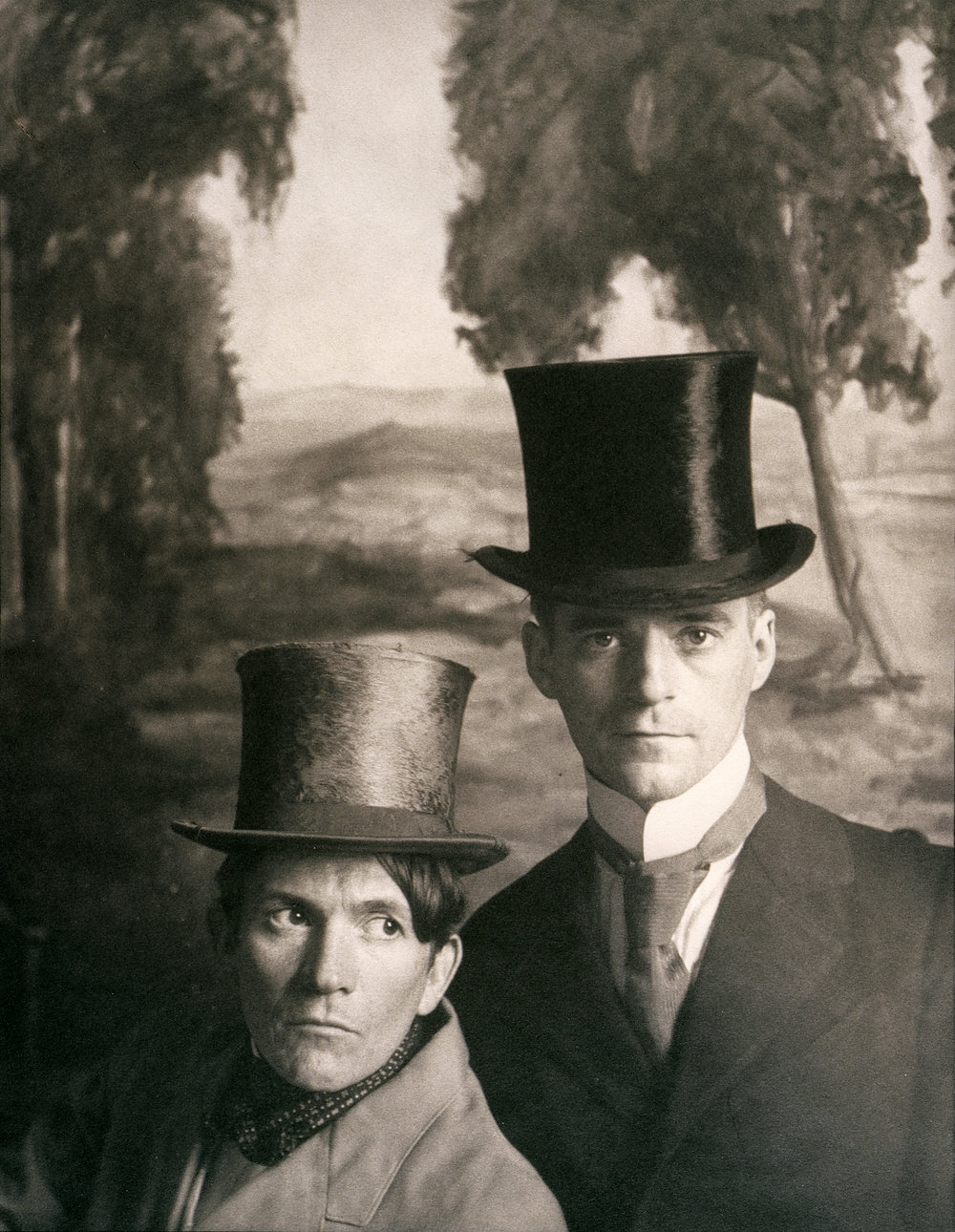 McDermott & McGough,  Portrait of the Artists (with Top Hats), 1865,  Palladium, 1991 Courtesy of the Artists
