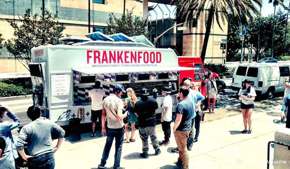 Food trucks in front of LACMA, Los Angeles