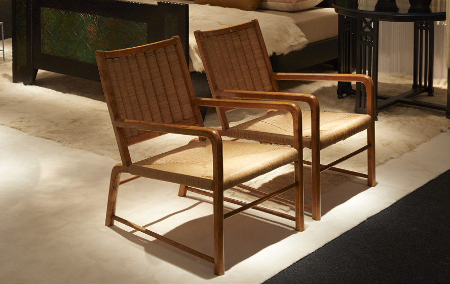 AWARD FOR 20th CENTURY DESIGN  Pair of armchairs, Emanuele Rambaldi, 1935  GALERIE HP LE STUDIO, France  Stand 62
