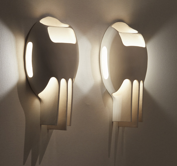 AWARD FOR CONTEMPORARY DESIGN  Pair of wall lights by Guy Bareff, 2018 Limited Edition  GALERIE DEPREZ BREHAT, France  Stand 16