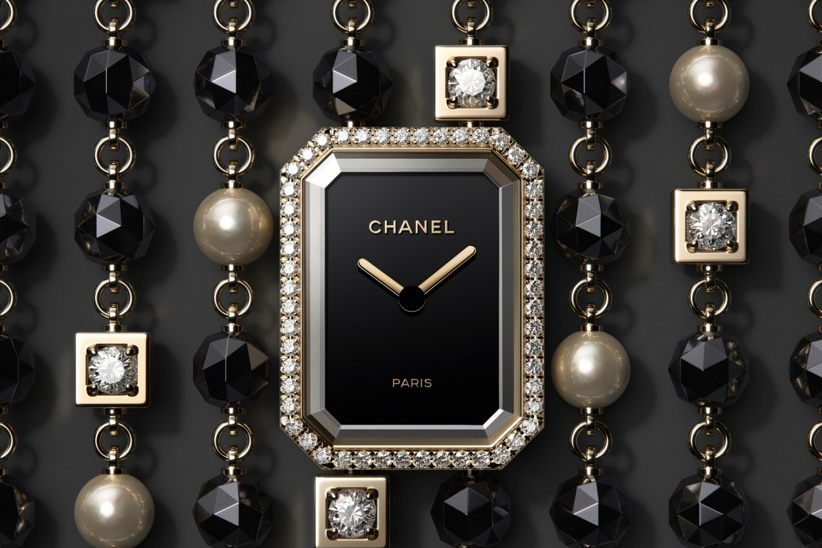 Chanel's new timepiece offerings include the Première Velours, featuring an 18-carat yellow gold case, which is available with a dial set with 116 brilliant-cut diamonds.