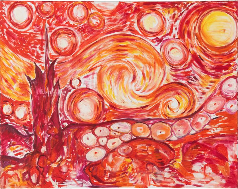 Jutta Koether  Starry Night II (1988)  Oil on canvas, 75 x 95 cm  © Jutta Koether  Courtesy Lévy Gorvy and Galerie Buchholtz