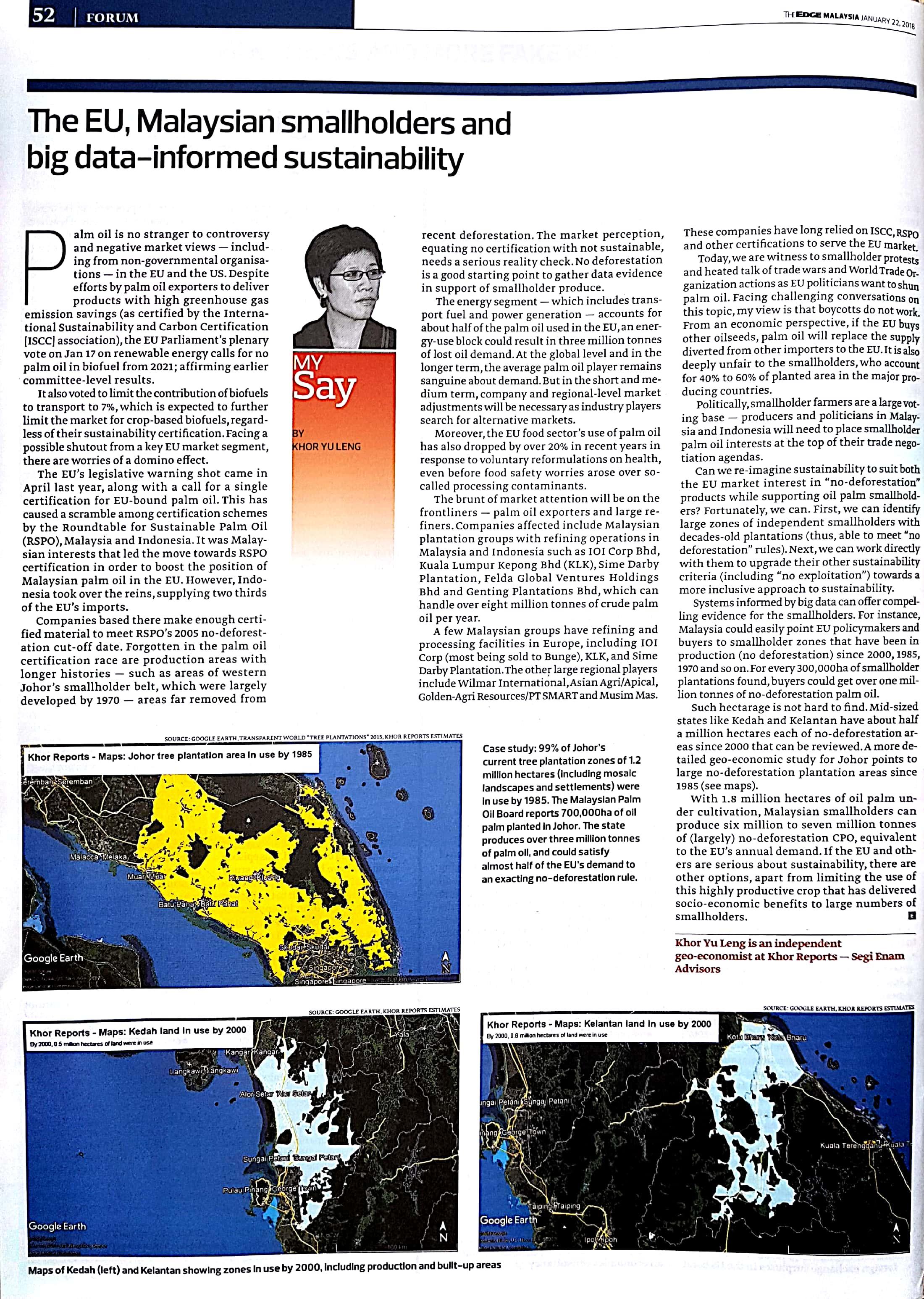Big data perspective - Geo-economics data published in The Edge Malaysia, The Edge Singapore, 2018