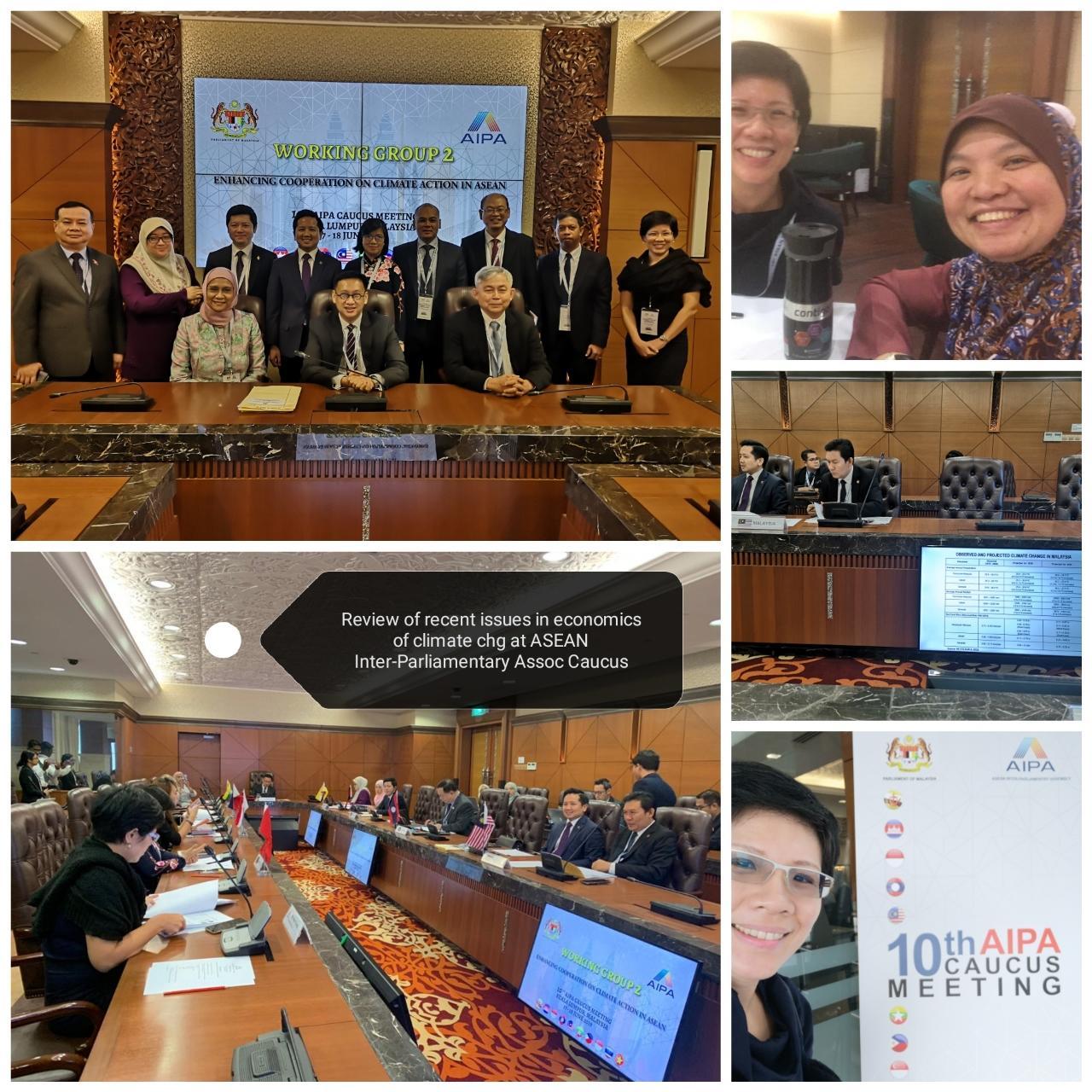 At the 10th AIPA Caucus, Kuala Lumpur, Jun 2019