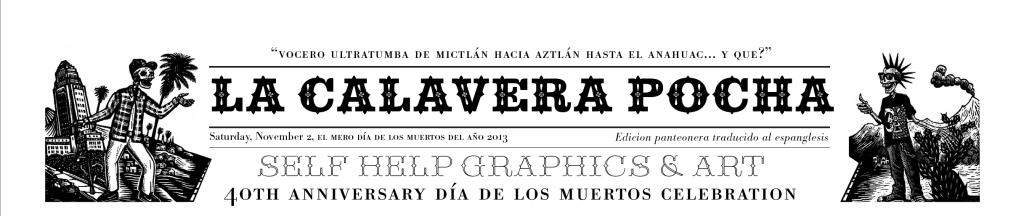 Masthead of La Calavera Pocha. Artwork by Sergio Sánchez Santamaría & Daniel Gonzalez.2013