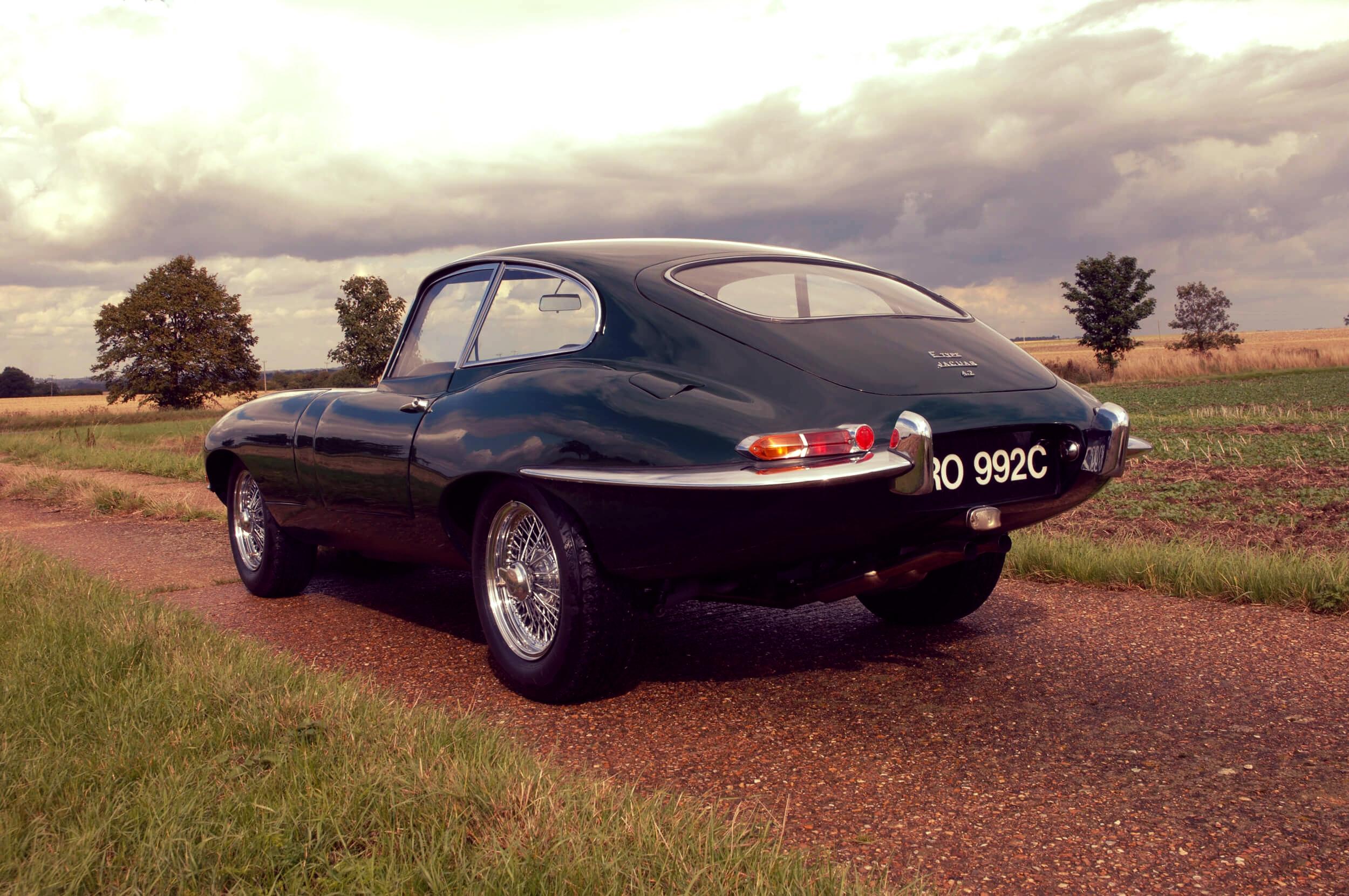 Jaguar E Type green