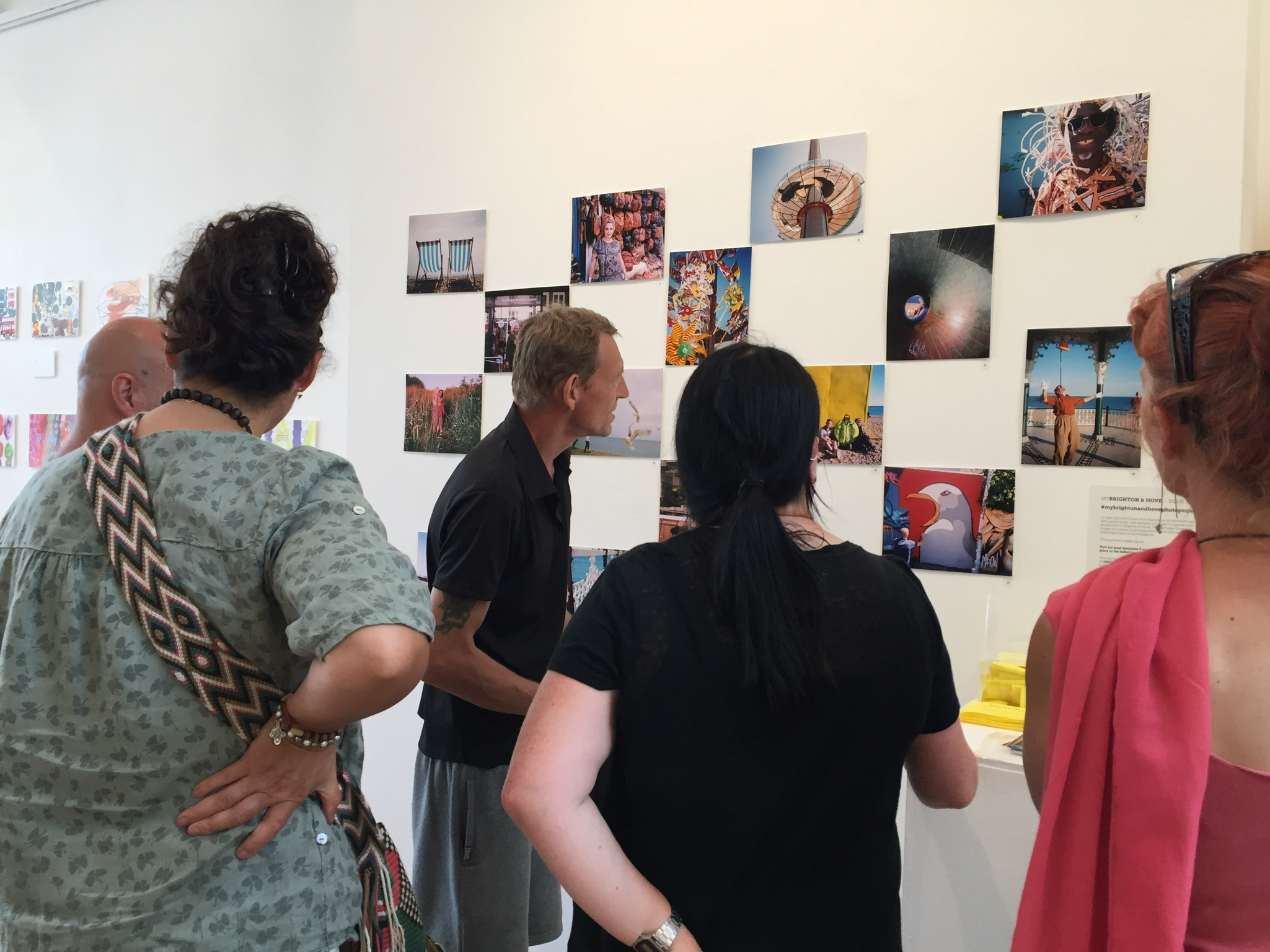 Stuart, a MYBRIGHTON & HOVE Photographer discussing his work at the Public Vote exhibition at ONCA Gallery in July 2018