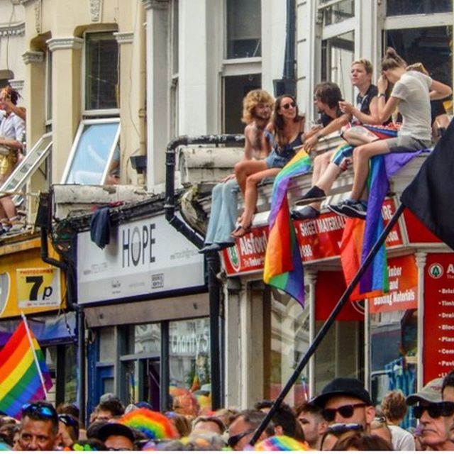 "Wishing everyone a happy and safe #brightonpride2019. 🌈🏳️‍🌈❤️🧡💛💚💙💜 . . ""Hope"" image by Russ Francis. Russ is setting up as a photographer full time and sells prints of his photographs, get in touch for details. . #pride #pride2019"