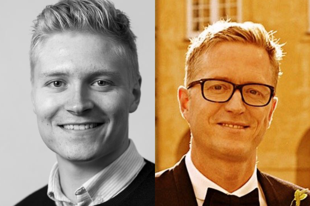 Jonas Bøgh Larsen, left, is the founder and CEO of Pento and previously founded Greenticket and Hivebeat. Jakob Ekkelund, right, is the CFO of Templafy and a former telco exec and VC who sat on the board of several prominent startups incl. Vivino, Mofibo and Penneo.