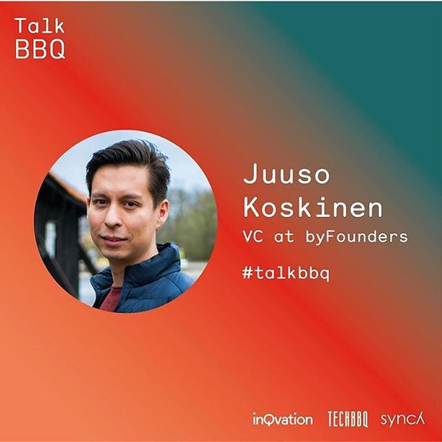 "We're happy to announce that Juuso Koskinen, VC at @byfounders will be one of the five panelists at our event, TalkBBQ 💪 During the debate, Juuso Koskinen will give us his thoughts on being a VC in the Nordic. ""I think Nordic VCs are beginning to understand that to win the best deals one needs to be both agile and have founder friendly terms."" The event is sponsorer by @matrikel1 and @mikkellerbeer #talkbbq #techbbq #inqvation #synchlaw"