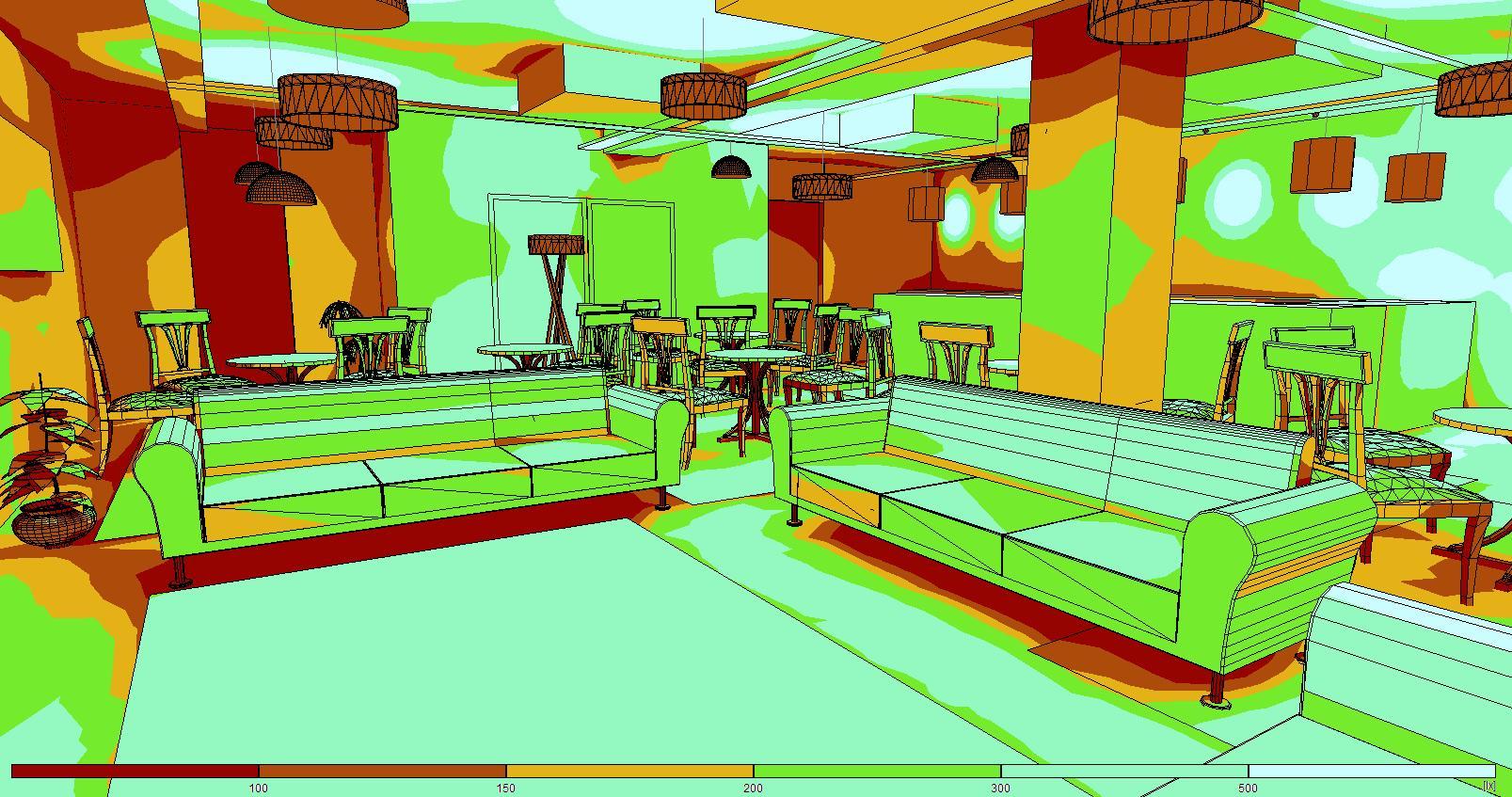 Relux Lighting Design - light mapping