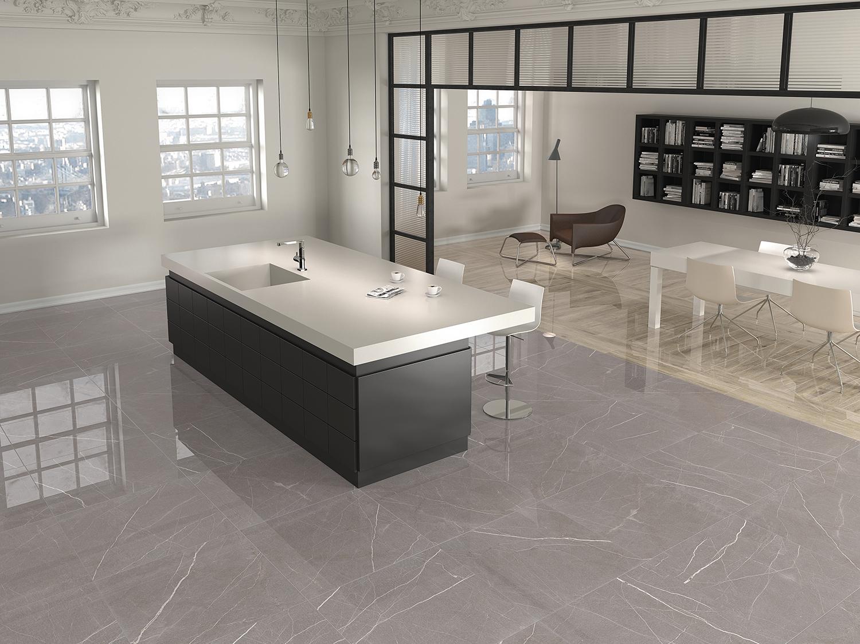 Polished Grey Porcelain Tile