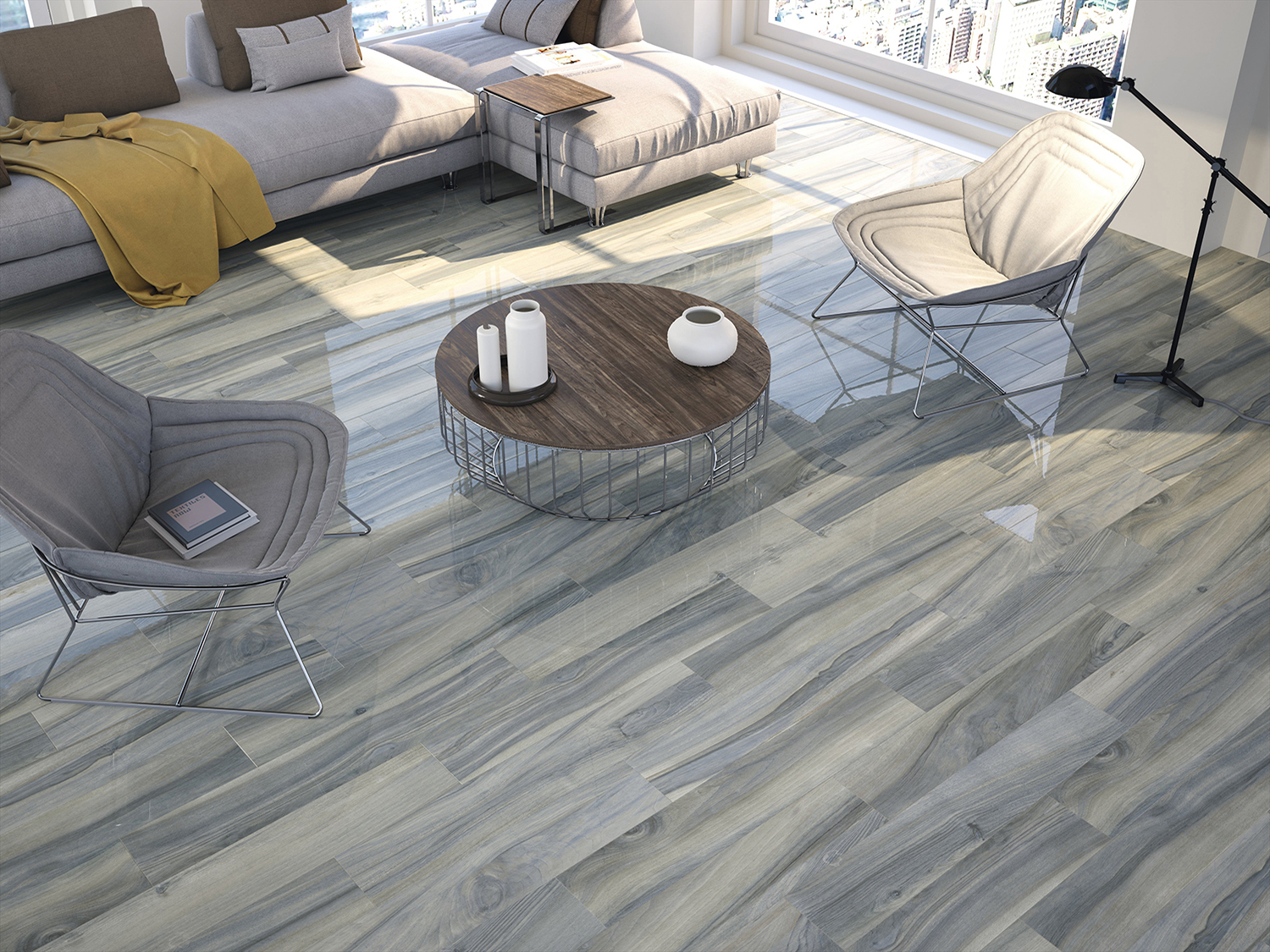 Time Polished Wood Effect Tiles