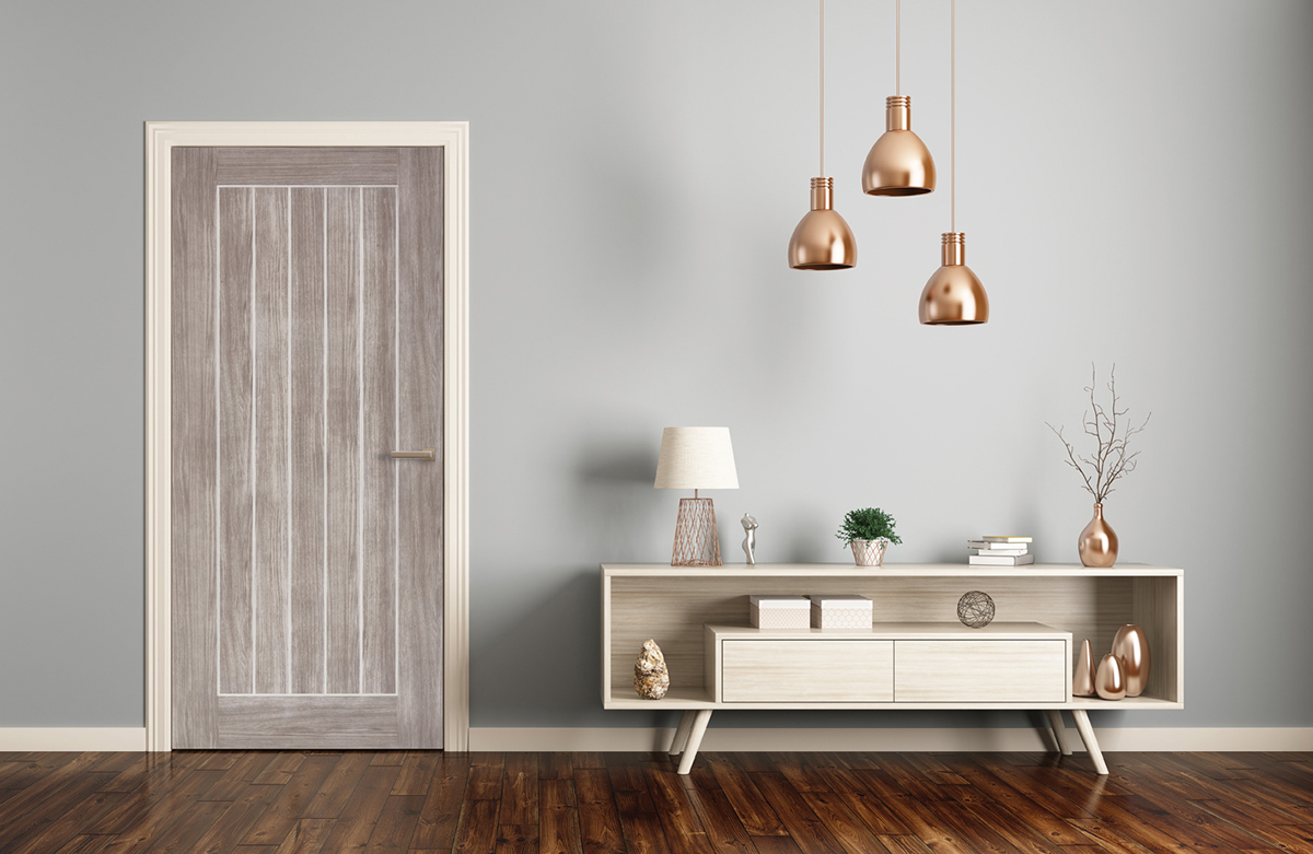 Mexicano Light Grey Laminate Door