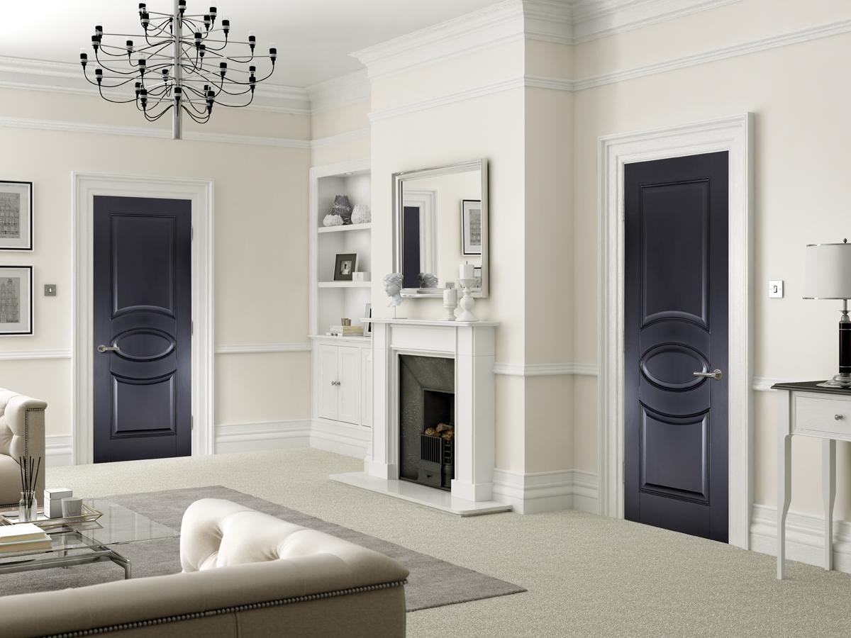 Versailles Black Primed Interior Door