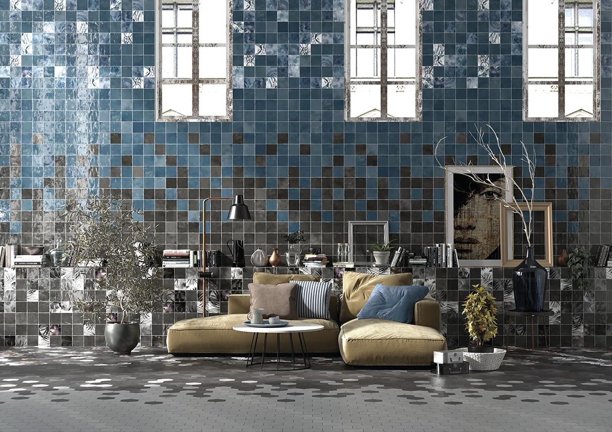 Black & Blue Tiles