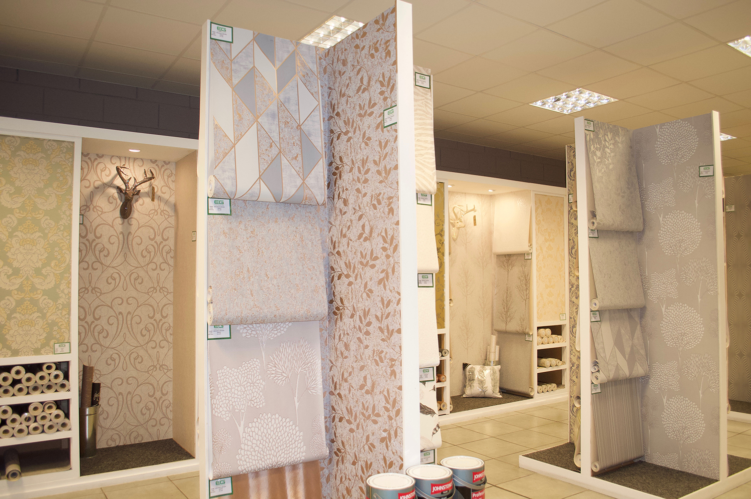 Graham and Brown wallpaper on display in our Liverpool showroom
