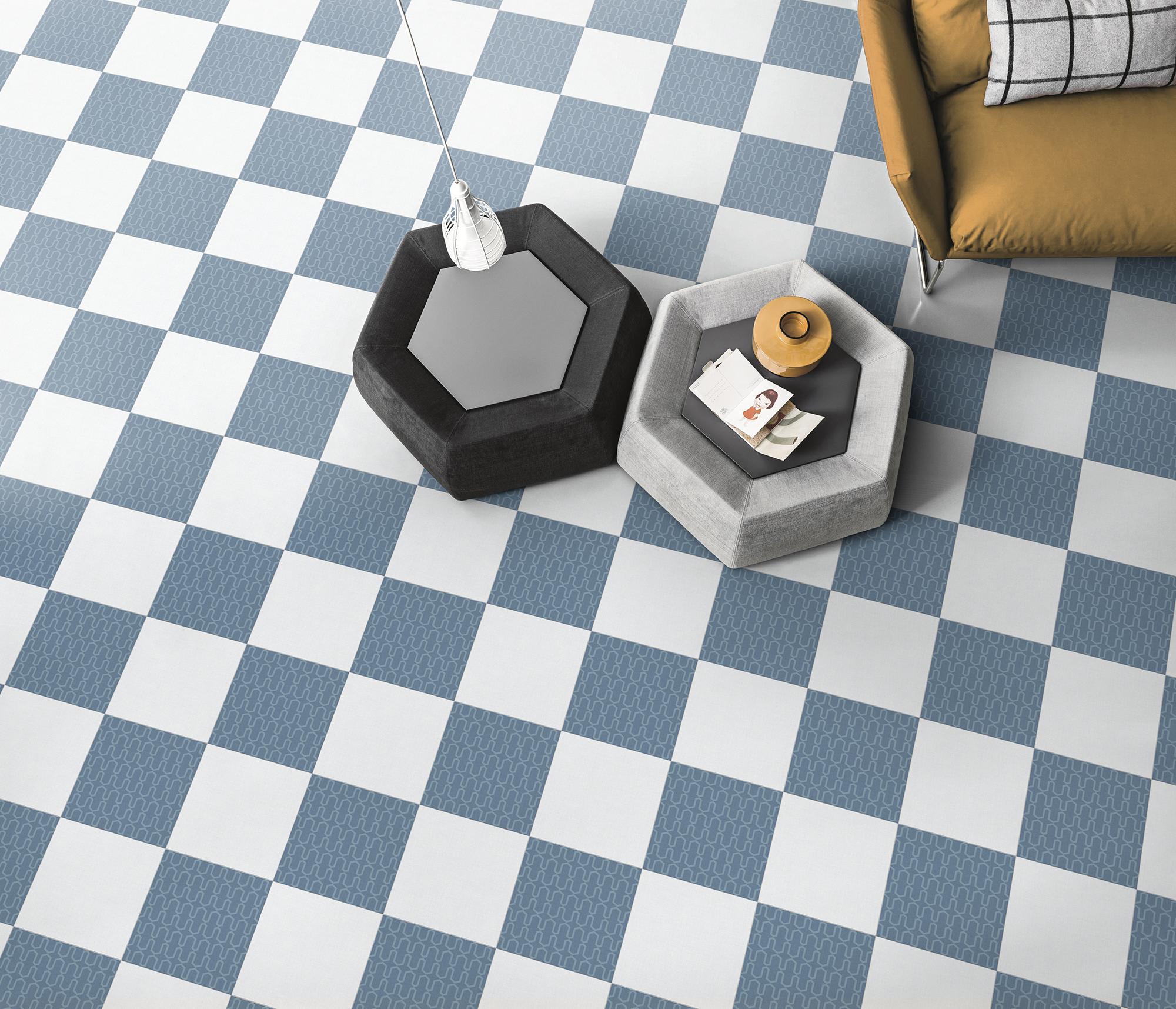 White and Blue Porcelain Tiles