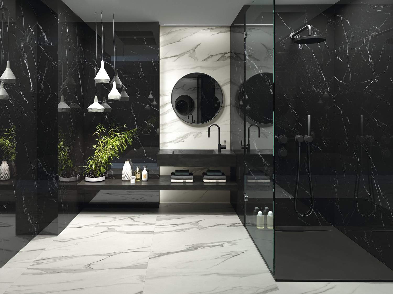 Black Marble Effect Tiles