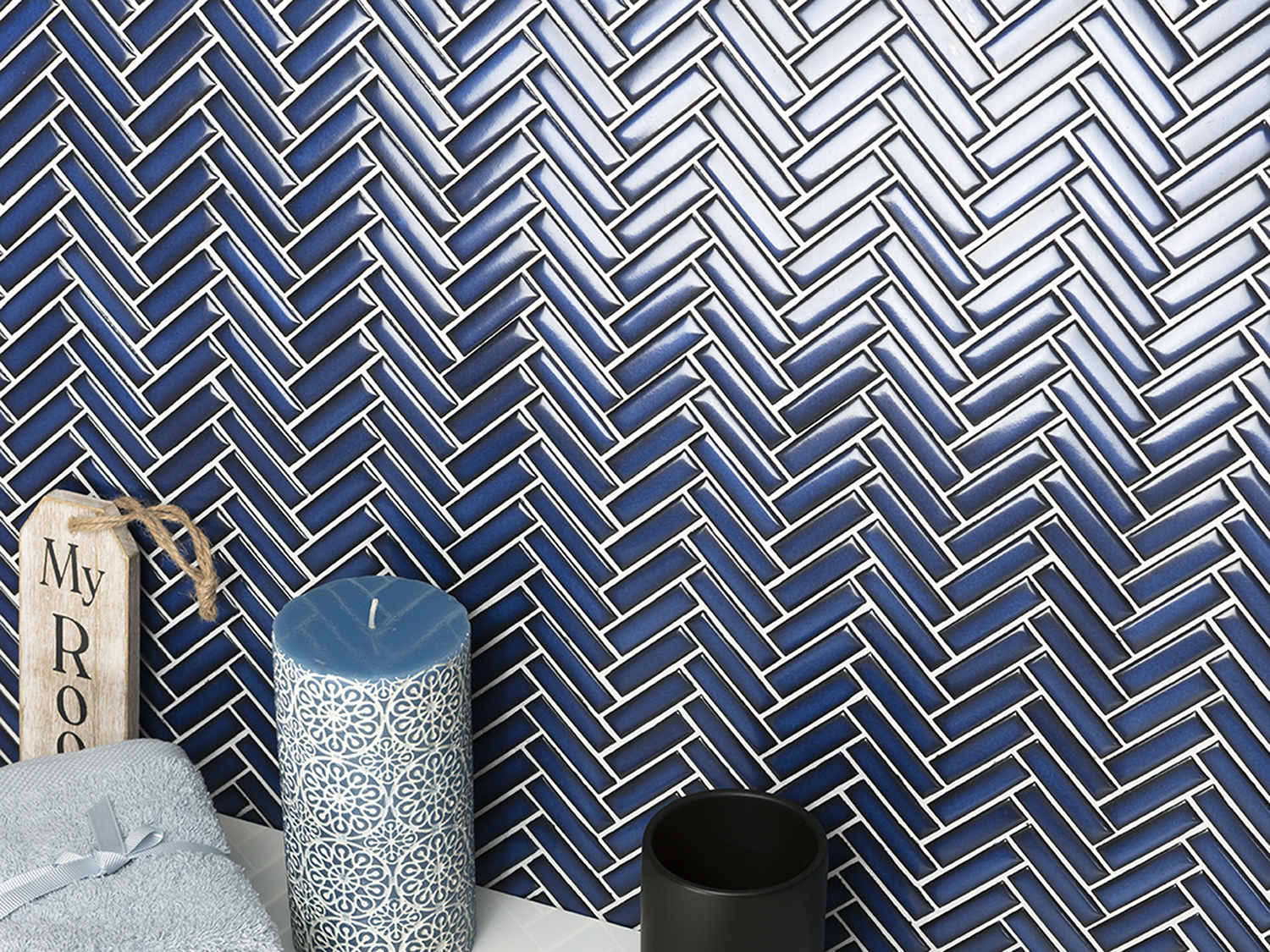 Blue Chevron Tiles