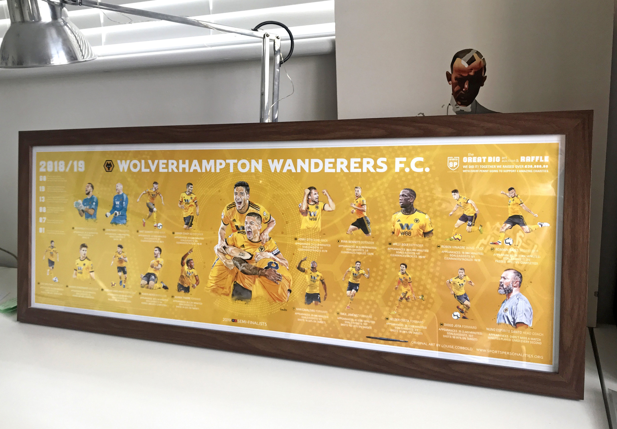 Panoramic poster: Wood Effect Walnut frame not included.