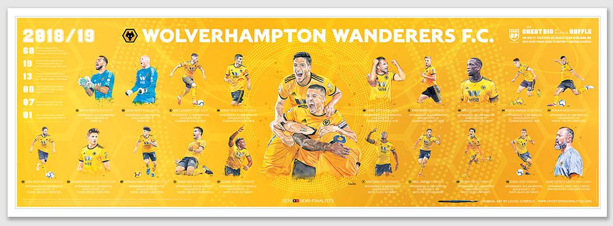95cm x 33cm Panoramic Team 'Celebration' Poster (sold unframed)