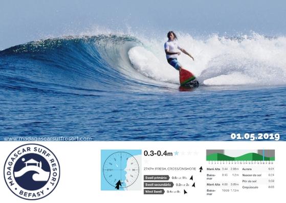 Surf Report 01 May 2019 - Madagascar Surf Resort
