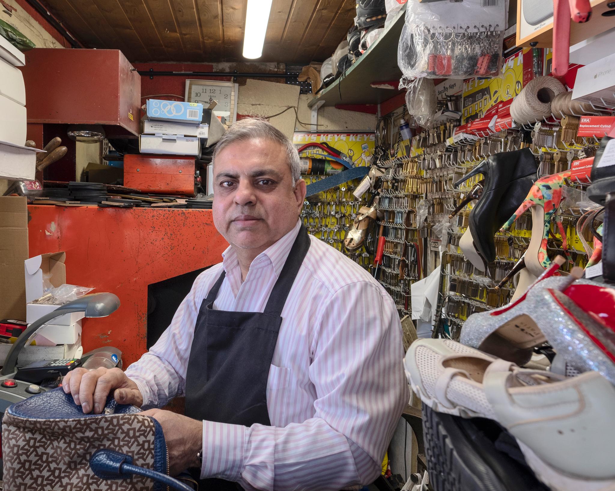 Manoj; Shoe, bag and key repairer