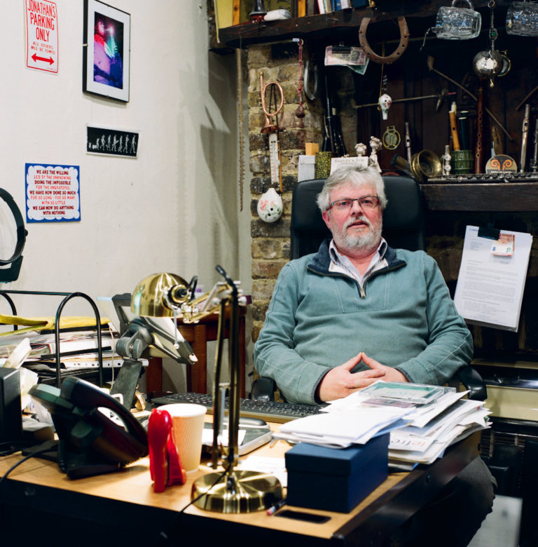 Graham Land:  Jonathan Myall in his office,  March, 2018
