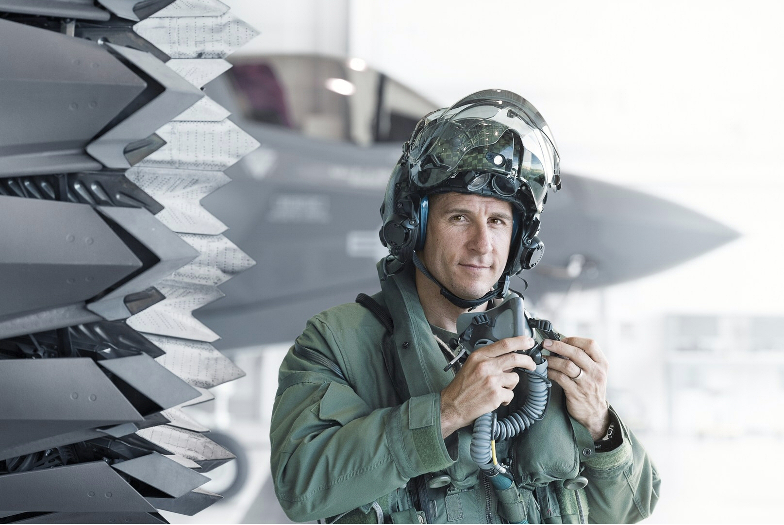'Lt. Col. David Burke F35 Pilot' by Stephen Wilkes