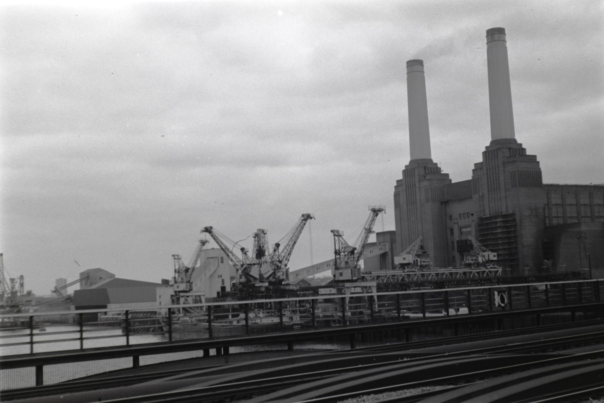 Battersea Power Station taken by Graham Land, April, 1973 (Digital scan)