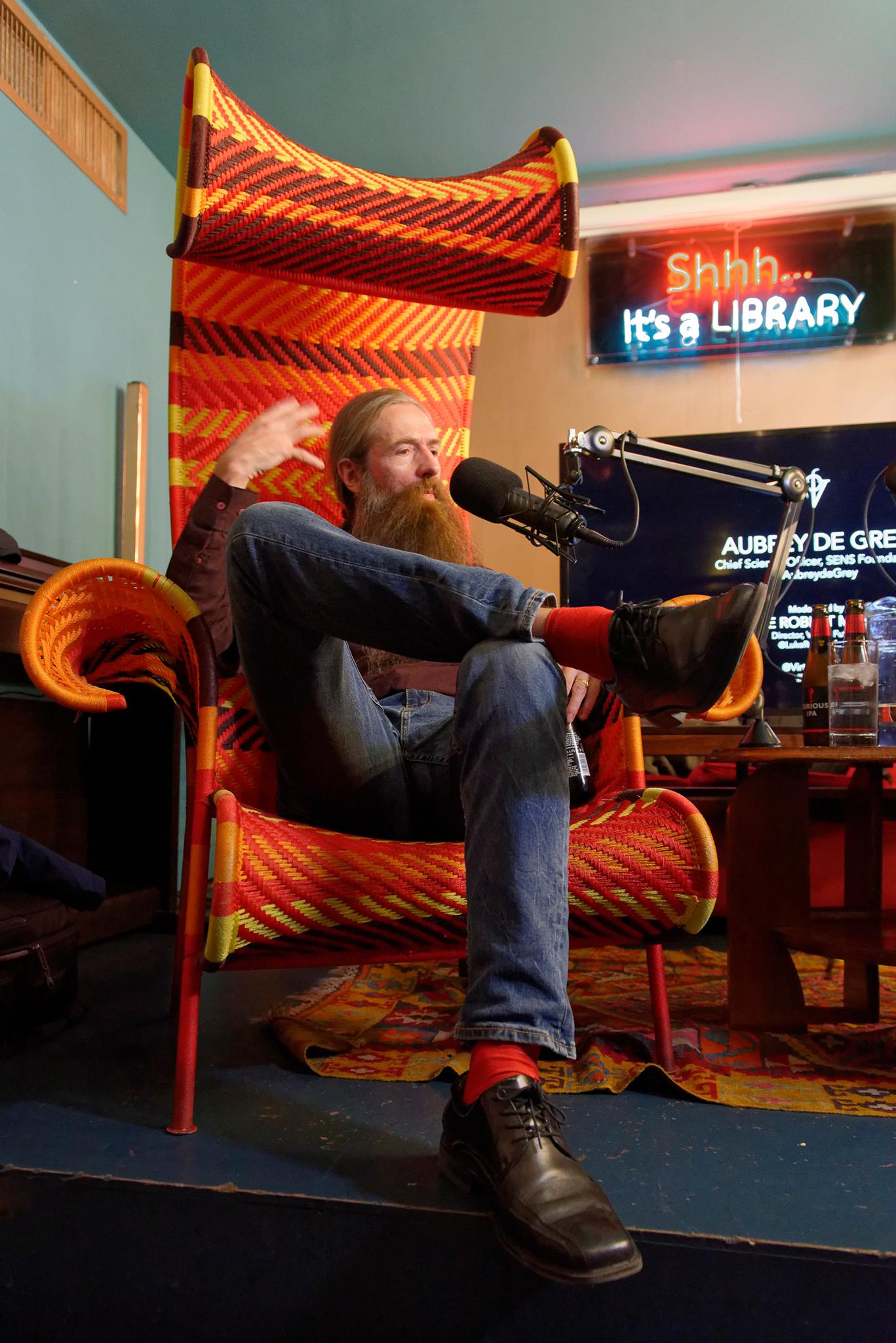 Aubrey de Grey, November, 2017
