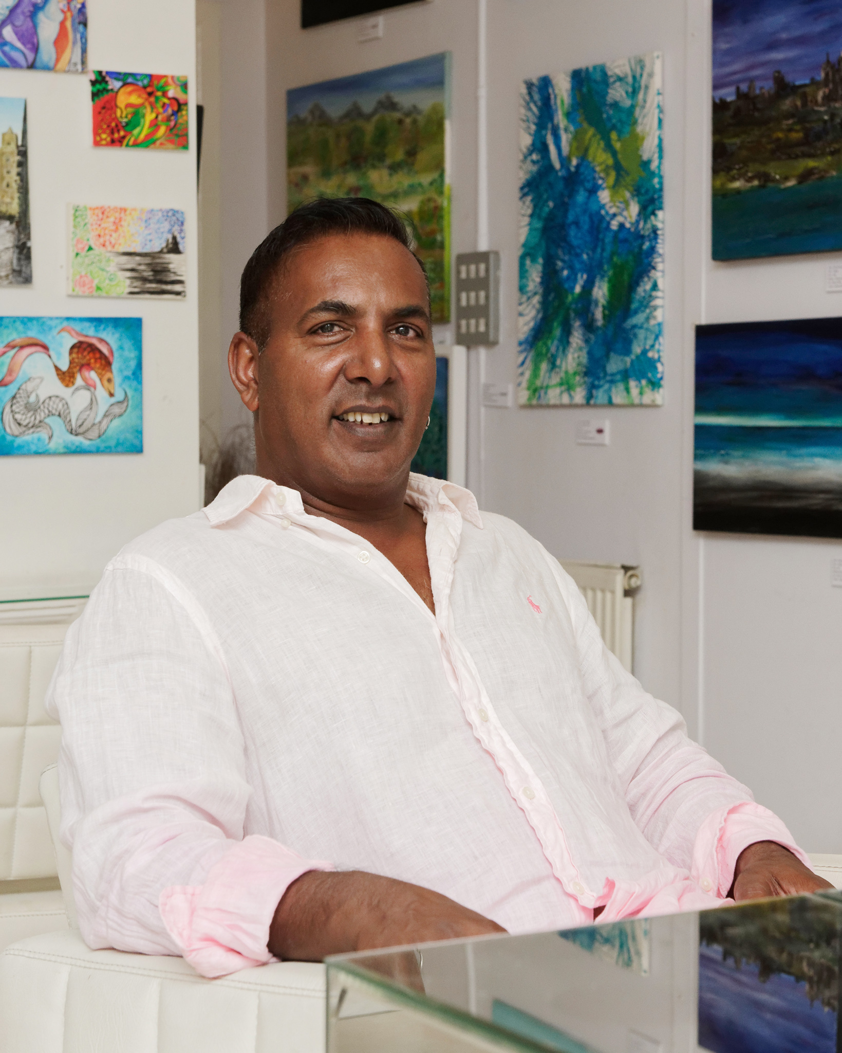 Kish Soobramaney at his desk - La Zaris