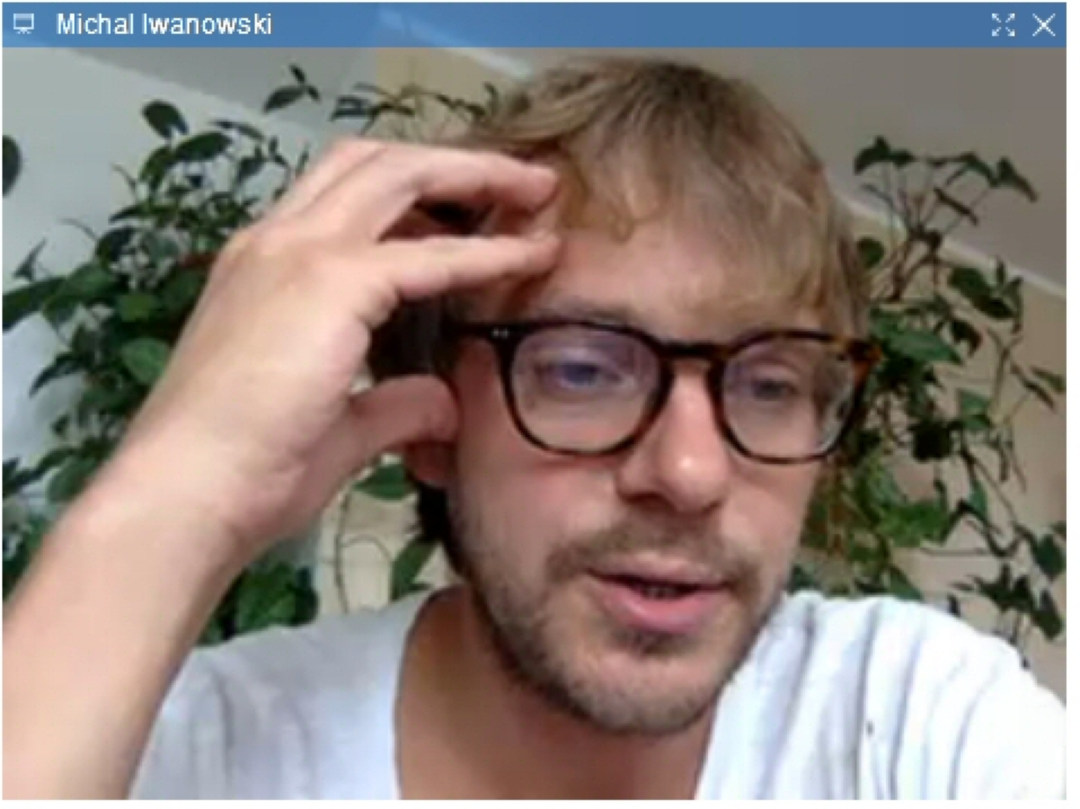 Michel Iwanowski via a web-cam screen grab