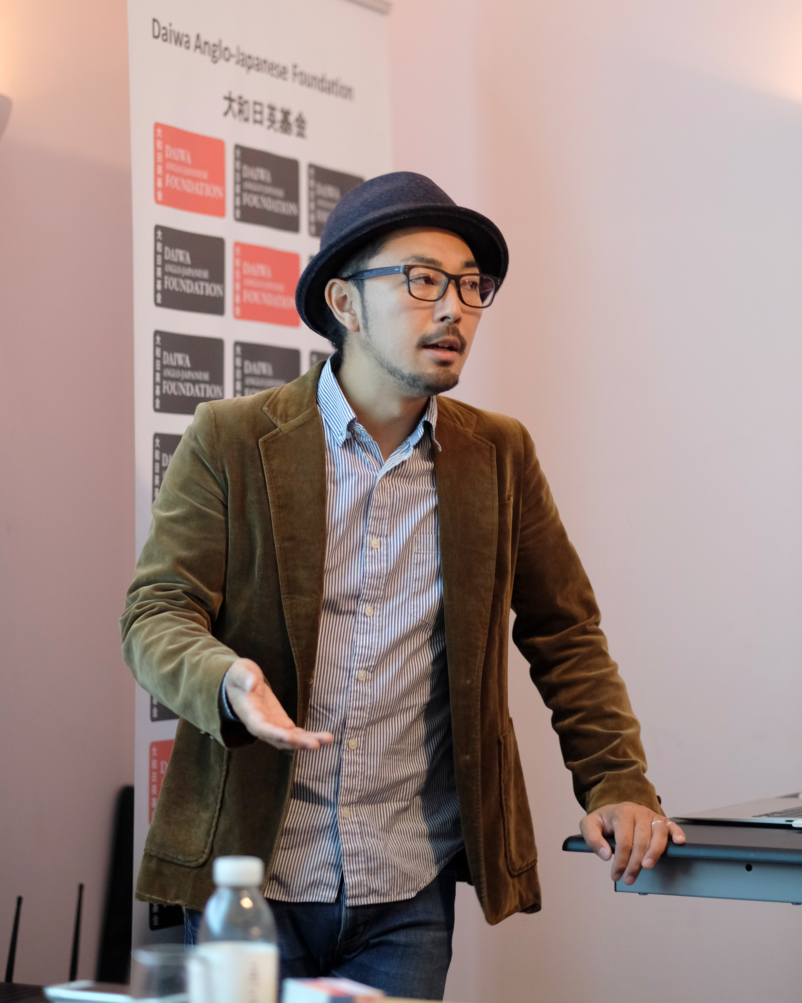Kazuma Obara giving a presentation on the 18th October, 2018 . Taken by Graham Land