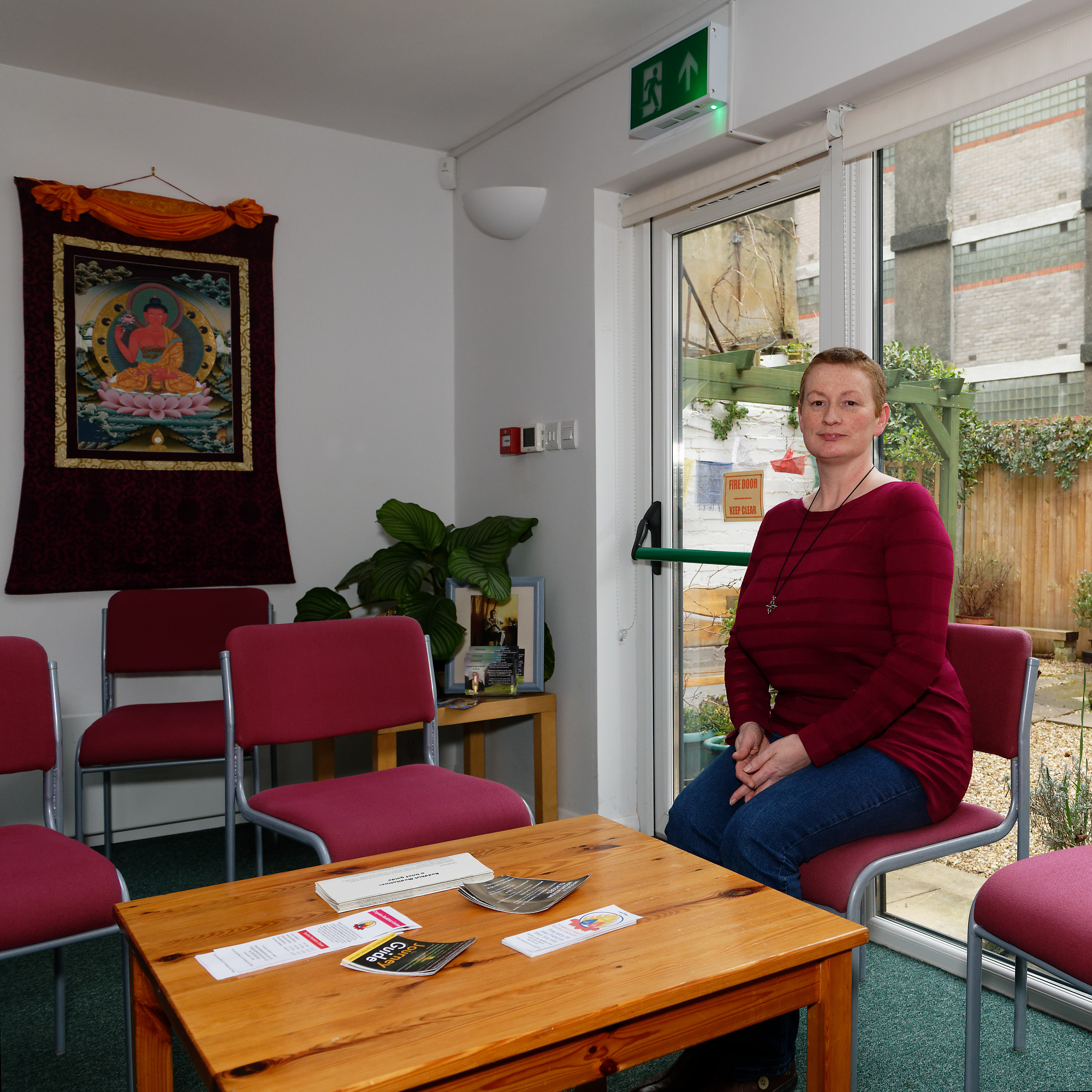 Carol, Manager of The Croydon Buddhist Centre taken by Graham Land, digital full-frame capture.  1st March, 2019