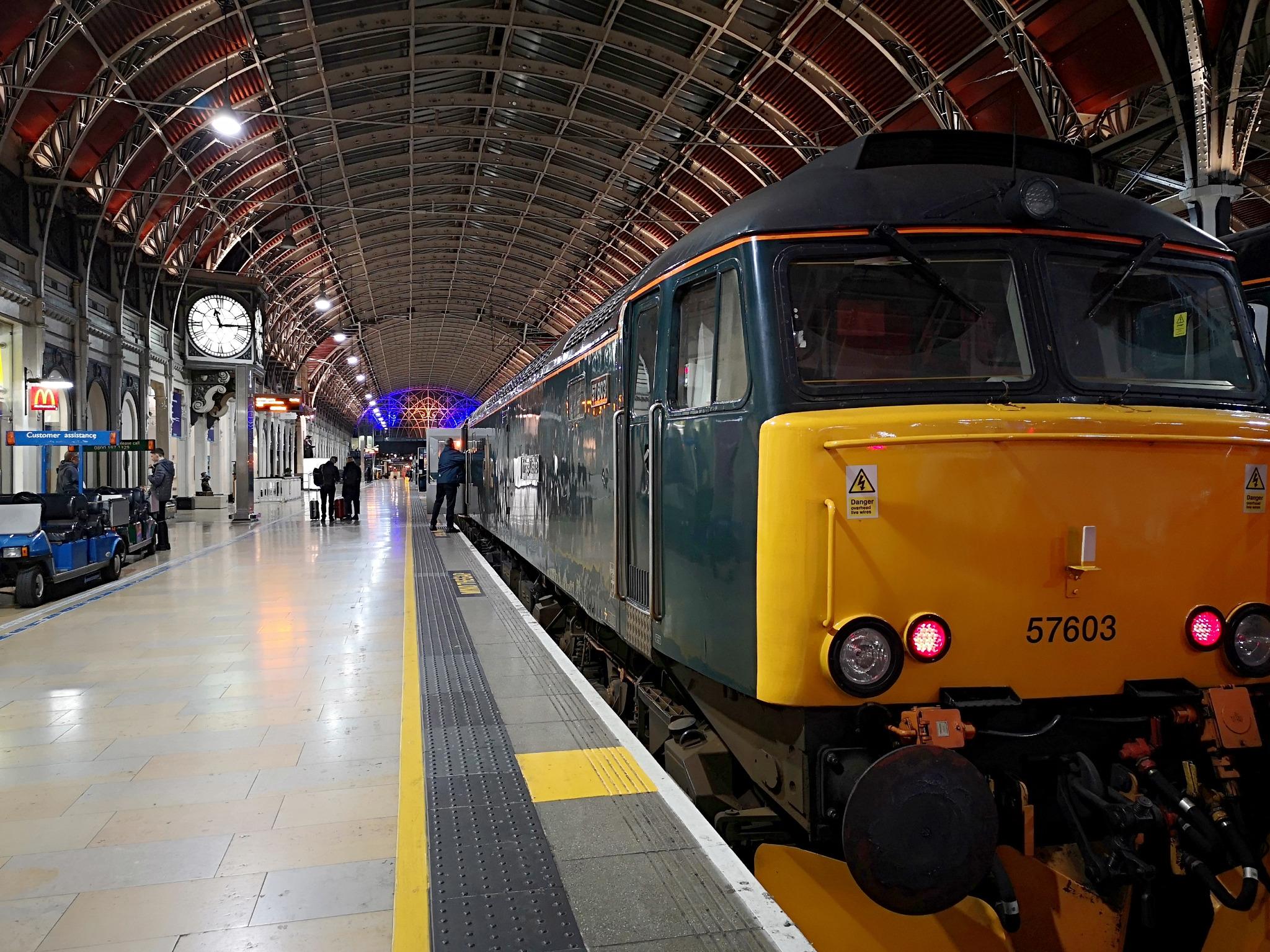 Paddington Station; Boarding the Cornish Riviera night train. Taken by Graham Land, March, 2019