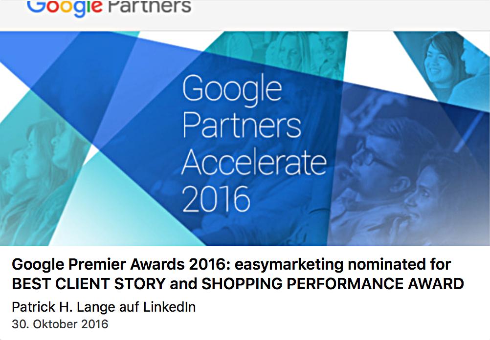 Google Premier Award