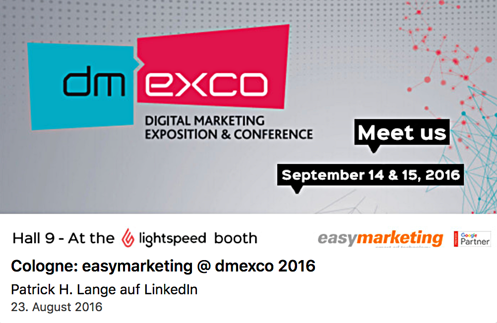 easymarketing @ dmexco