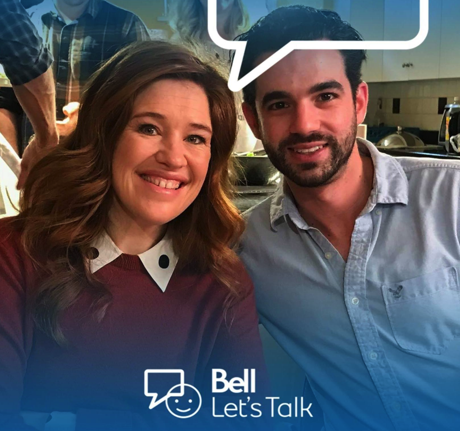 Joel Muise, Co-Founder of  Tranquility Online  w/ Clara Hughes national spokesperson for Bell Let's Talk.