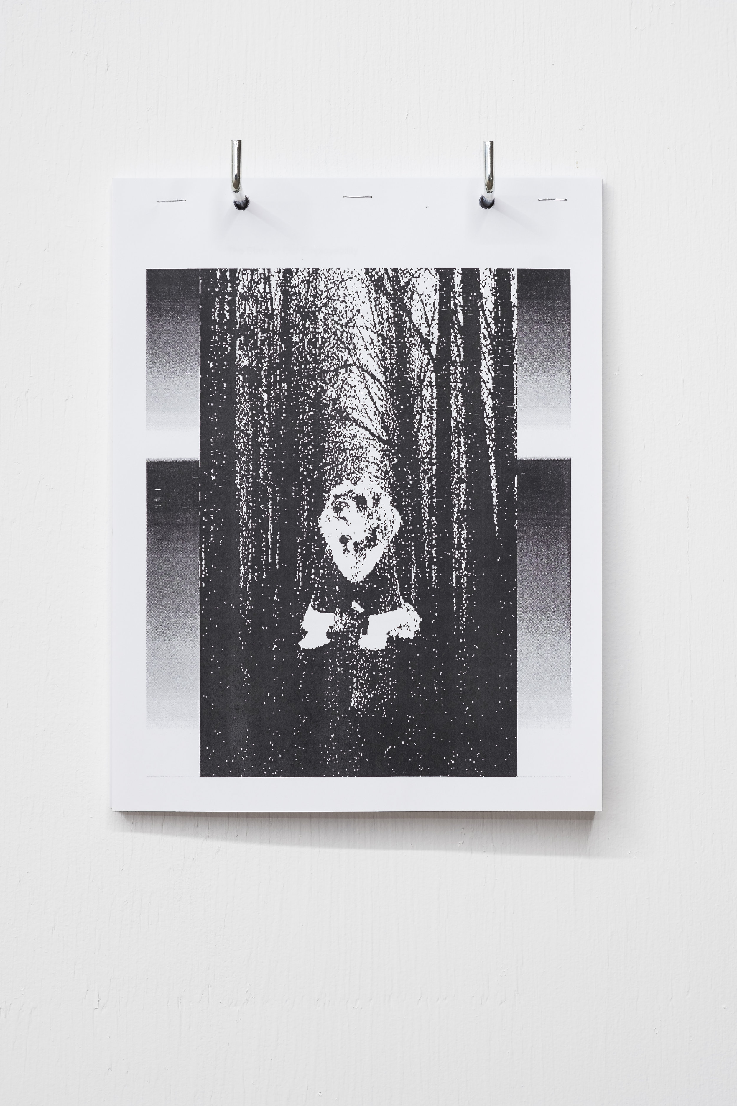 Untitled 01, 2018. 8.5 x 11 in. 6 pages Xerox print