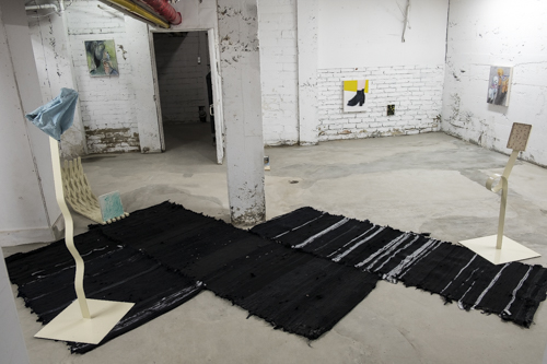 Tim Messeiller, Sarah Osborne and Simone Blain, Installation view [photo: Morgane Clémént-Gagnon]