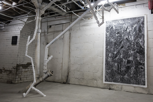 Jerome Nadeau and Philippe Caron Lefebvre, Installation view [photo: Morgane Clémént-Gagnon]