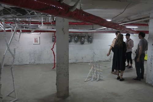 Philippe Caron Lefebvre and Shanie Tomassini, Installation view, Vernissage [photo: Morgane Clémént-Gagnon]