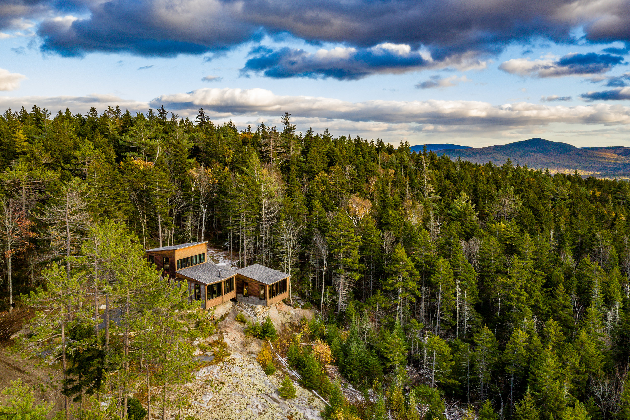 No mountaintop property would be complete without a view from the air