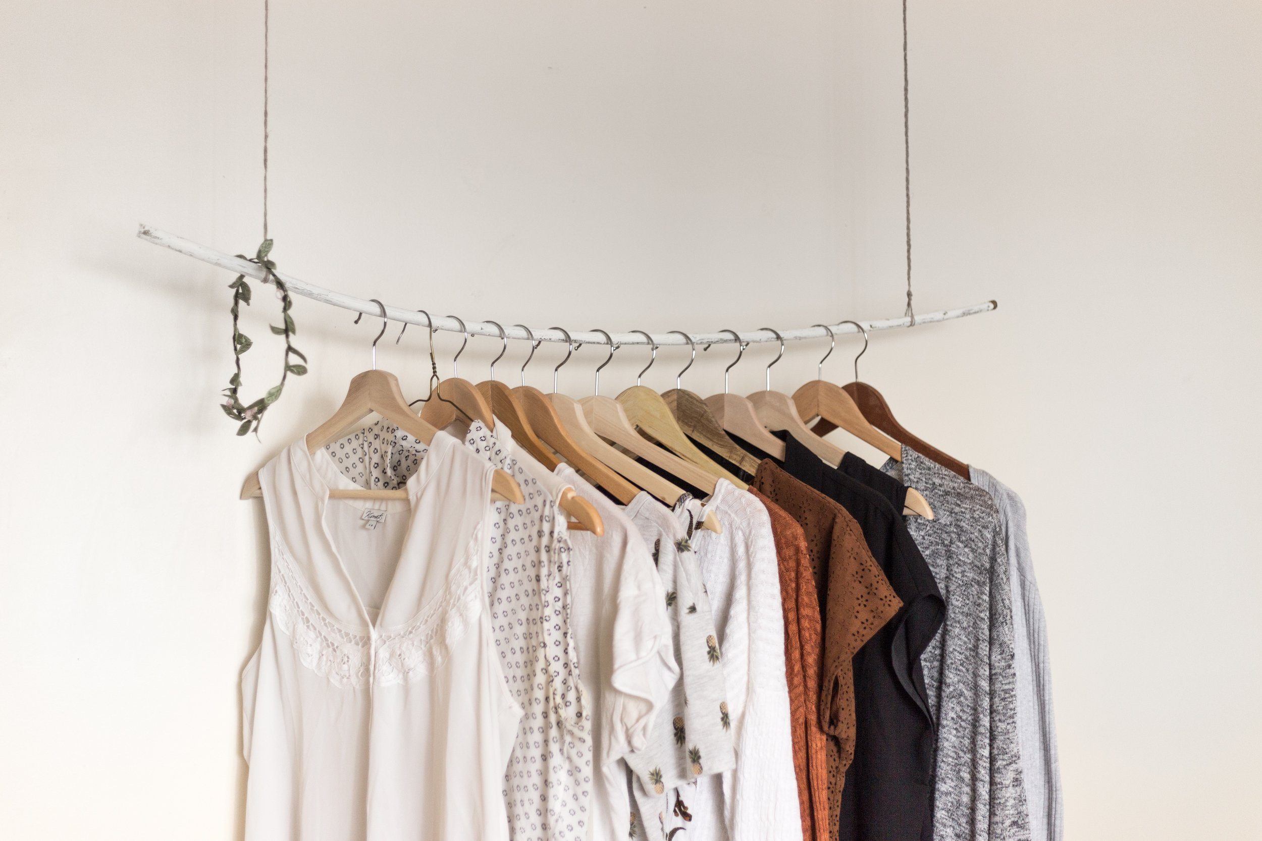 A Wardrobe That Has Been Organised & Decluttered