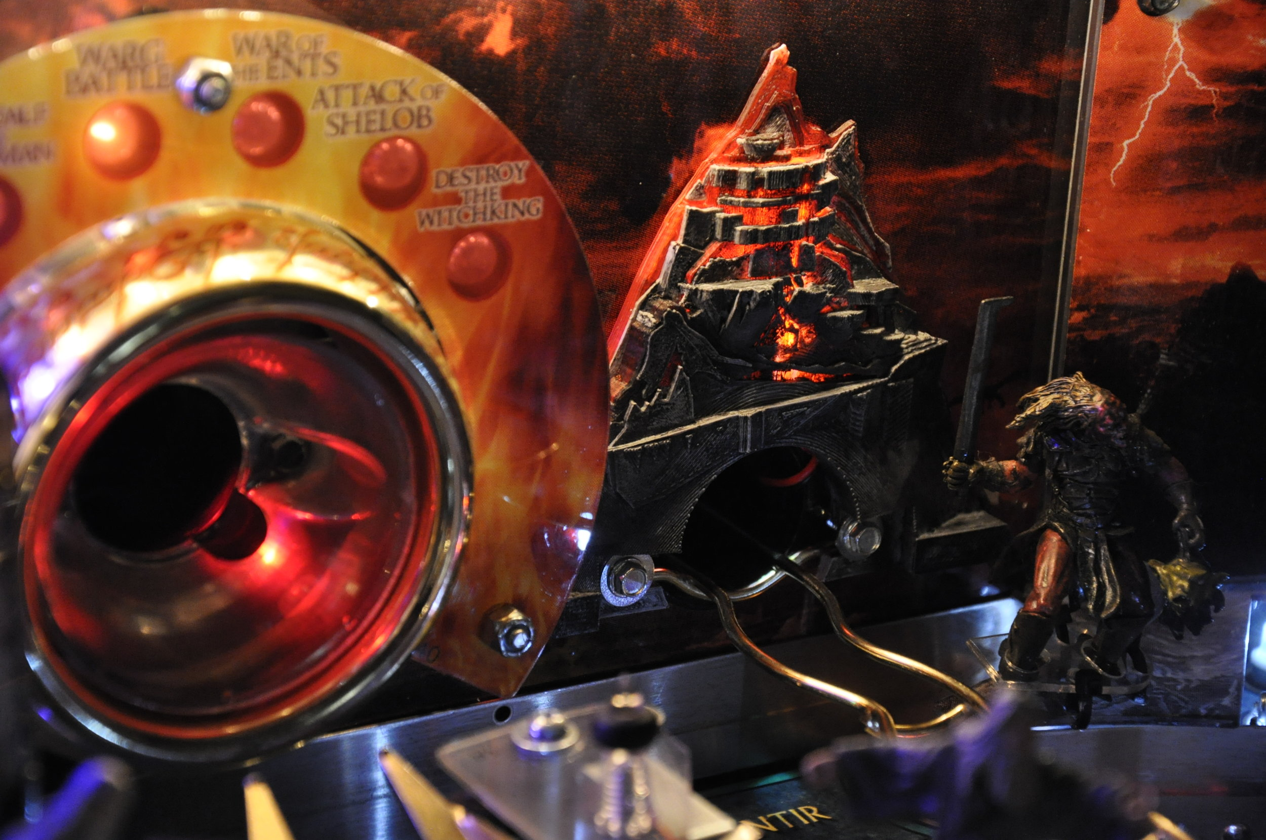 Volcano Mod - Mt. Doom Replacement - Stern's Lord of the Rings Pinball Machine